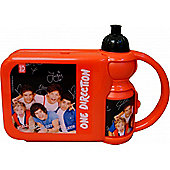 One Direction Red with Sports Water Bottle Lunch Box