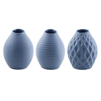 'Nova' Powder Blue Porcelain Vase Trio for the Home
