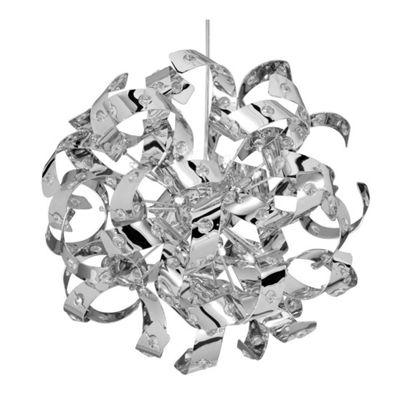 CURLS - 12 LIGHT CHROME PENDANT-GLASS BEADS