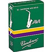 Vandoren 2 Alto Sax Java Reed (x10)