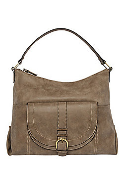 F&F Buckle Detail Distressed Hobo Bag