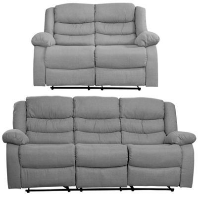 Sofa Collection Des Moines 3 + 2 seat recliner - Light Grey