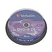 Verbatim DVD+R Double Layer 8.5GB 8x Spindle (Pack of 10)