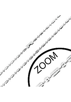 Urban Male Stainless Steel Modern Military Style 1.5mm Chain 24in Long