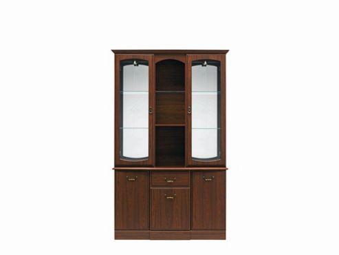 Caxton Byron 122 cm Display Cabinet in Mahogany
