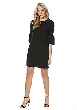 F&F Crepe Bell Sleeve Dress - Black