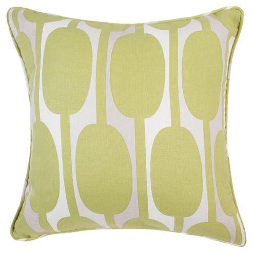 Tesco Cushions Retro Print Cushion, Green