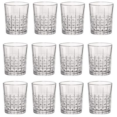 Bormioli Rocco Este Vintage Cut Glass Double Old Fashioned Tumblers - 390ml - Pack of 12