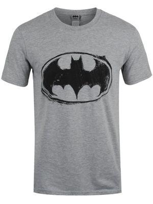 DC Comics Batman Sketch Logo Grey Men's T-shirt