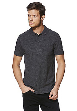 F&F Pique Polo Shirt - Grey
