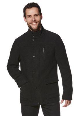 F&F Four Pocket Textured Coat XL Charcoal