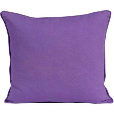 Homescapes Cotton Plain Purple Cushion Cover, 60 x 60 cm