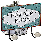 Powder Room Double Metal Wall Hooks