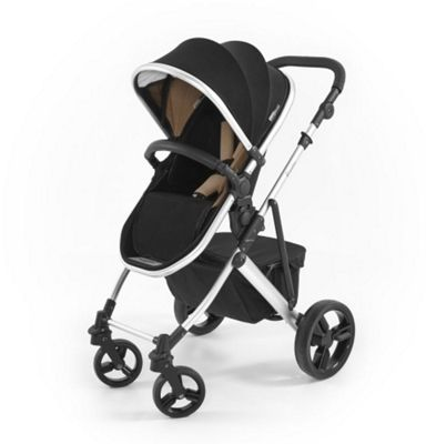 Tutti Bambini Riviera Plus 3 in 1 Silver Pram & Pushchair - Black / Taupe