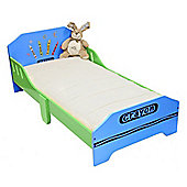 Kiddi Style Childrens Crayon Themed Wooden Junior Bed - Blue
