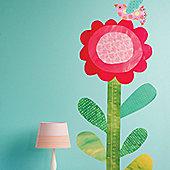 Big Flower Growth Chart Wall Sticker