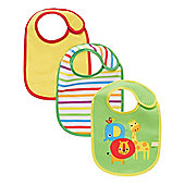 B Newborn's Safari Bibs - 3 Pack