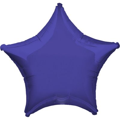 Purple Star Balloon - 19 inch Foil