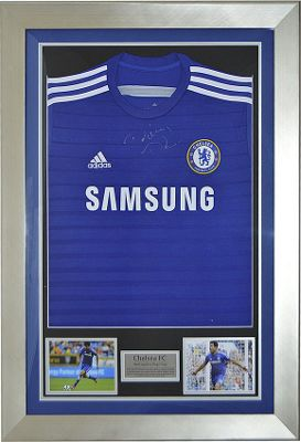 Signed Diego Costa Chelsea FC Framed Football Shirt