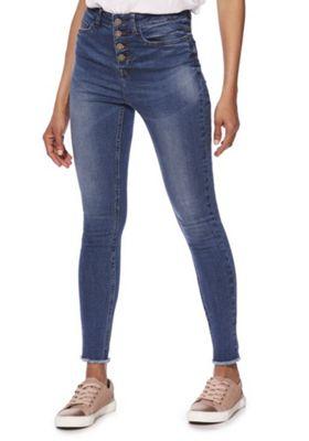Noisy May Raw Hem Jeans blue 26 Waist