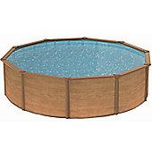 Canyon Wood Effect Steel Pool 3.9m
