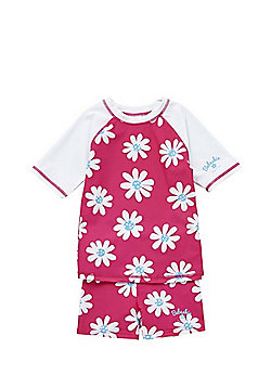 Babeskin Floral UPF 50+ Protection Surf Suit - Pink