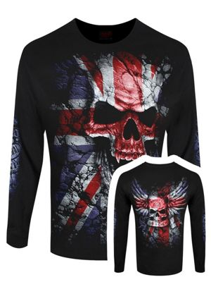 Spiral Union Wrath Men's Black Long Sleeve T-Shirt