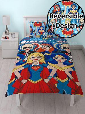 DC Super Hero Girls Single Duvet Cover Set