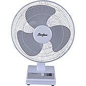 """Stirflow SFG12WB White 12"""" 3 Speed Wall & Desk Fan"""