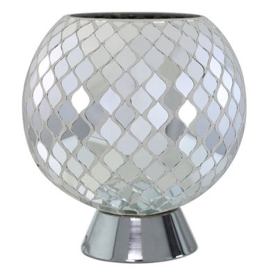 Silver Moroccan Mosaic Ball Light