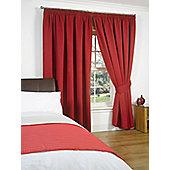 "Dreamscene Pair Thermal Blackout Pencil Pleat Curtains, Red - 90"" x 90"" (228x228cm)"