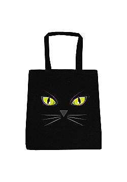 Cat's Eyes Black Tote Bag