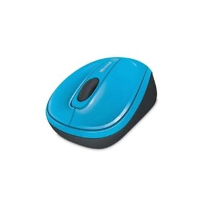 Microsoft Wireless Mobile 3500 Mouse - BlueTrack - Wireless - 3 Button(s) - Cyan Blue