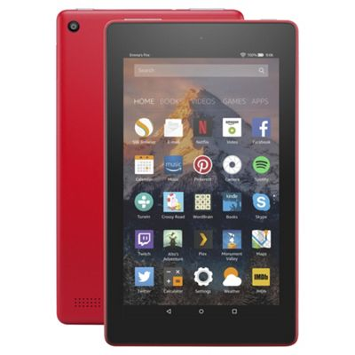Amazon Fire 7 Tablet with Alexa Assistant 7 inch 8GB with Wi-Fi (2017) -  Punch Red
