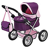 Bayer Trendy Dolls Pram - Mauve