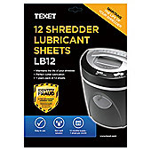 Texet shredder lubricating sheets 12pk