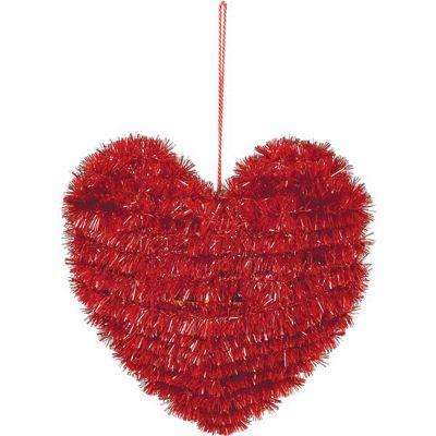 Valentine's Small Tinsel Heart 11cm x 11cm