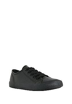 F&F Lace-Up Plimsolls - Black