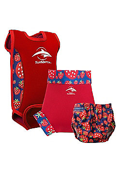 Konfidence Babywarma and Swim Nappies Set Strawberry - Multi
