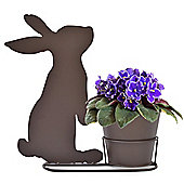 Cute Rabbit Silhouette Plant Pot & Stand