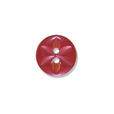 Impex Polyester Star Buttons Red 13mm 10pk