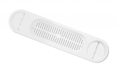 White Plastic Over Bath Shelf / Shower Rack - 685mm x 167mm