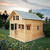 Lodge Playhouse 8x9 ft with two floors by Finewood