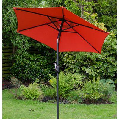 Cambridge 2m Crank And Tilt Garden Parasol Red
