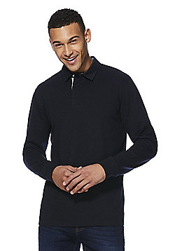 F&F Long Sleeve Rugby Shirt - Navy