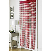 Country Club Retro Chic String Door Curtain 90 x 200cm, Jacquard Red