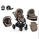 Hauck Maxan 4 Trio Set + Safety Buggy Lights Travel System - Beige