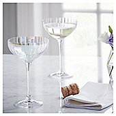 Fox & Ivy Jardin Pack of 4 Champagne Coupe Glasses