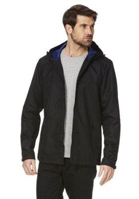 F&F Shower Resistant Hooded Ripstop Jacket Black 5XL