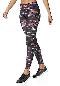 F&F Active Space Dye Leggings - Pink & Multi